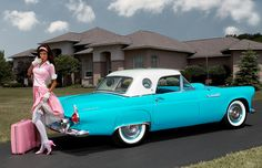 1955 Ford Thunderbird. When I was little I swore this would be my first car haha