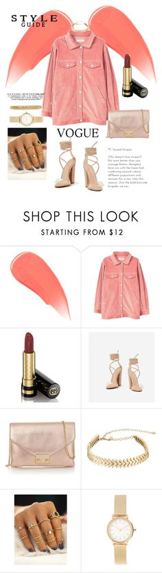 """Coral"" by cephora ❤ liked on Polyvore featuring Burberry, Gucci, Loeffler Randall, Rebecca Minkoff, Skagen, AMBUSH and coral"
