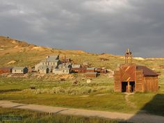 Firehouse and Mill in Bodie, CA.