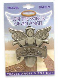 NURSE RN LPN Travel Guardian Angel Visor Clip . $7.41