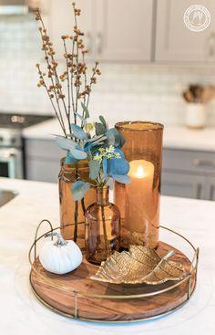 Check this out Kitchen Centerpiece Ideas - Modern Fall Kitchen Decor, Fall Home Decor, Autumn Home, Diy Home Decor, Decor Room, Diy Kitchen, Kitchen Ideas, Kitchen Decorations, Harvest Decorations