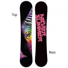 Never Summer Pandora Snowboard. My current board. rides like a beauty.