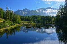 Tatry, Strbske Pleso Strbske lake in early morning by Pawel Kazmierczak, via High Tatras, Tatra Mountains, Big Country, Early Morning, Places To See, The Good Place, Europe, Amazing, Nature