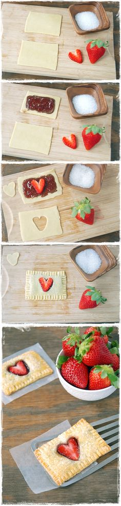 Strawberry Nutella Poptarts   Maybe somebody (Matt) should do this for somebody who really likes Nutella (mikayla) for valentines day