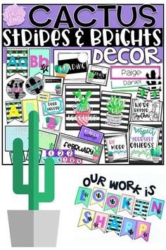 Hundreds of pages of Cactus classroom decor to adorn your walls, furniture and bulletin boards. Get your room back to school ready with this ON POINT bundle. Classroom Decor Themes, Classroom Setting, Classroom Design, Kindergarten Classroom, Future Classroom, School Classroom, Classroom Ideas, Classroom Inspiration, Teacher Binder