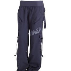 ⛷Sportswear Sale⛷ Feelin it Cargo Pants (indigo Feelin It Cargo Pants / Zumba Fitness Can be worn three different ways! 1) Down and baggy 2) Snap up legs for a short version 3) Gather the bottom for a funky hip look! MADE WITH LOVE &: Body:  100 % nylon Waistband:  90 nylon/10 spandex  Stretch banded waistband  2 front pockets ZUMBA Pants Track Pants & Joggers