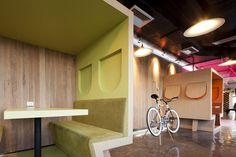 saatchi bangkok bike wall area cool office design Cool Office Design   The Worlds Best Office Interiors   No.10 Saatchi & Saatchi, Bangkok
