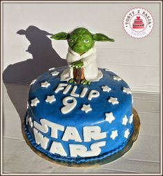 Torty z Pasją: tort Yoda cake, fondant.