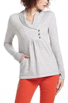 Shawl Collar Sweatshirt - Anthropologie.com