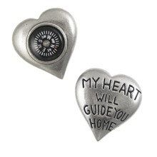 M~~~ My Heart Will Guide You Home Pocket Compass by jimclift on Etsy, $16.95