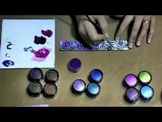 Tutorial using Polished Pigments with Crystal Lacquer - Sheena Douglass