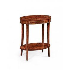 Jonathan Charles Mahogany oval lamp table