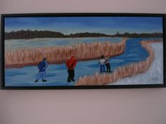 winters acryl op doek in baklijst 30/73