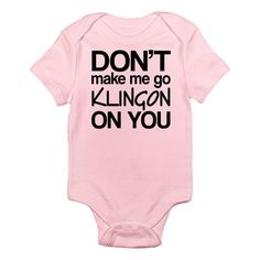 Pretty Cool Star Trek Baby Clothes for the newest crew member on board. Star Trek Clothing, Star Trek Collectibles, Pretty Cool, Baby Bodysuit, Cool Stuff, Stars, Infant, Kids, Cerebral Palsy