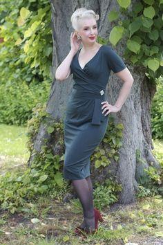 Daisy Dapper Victoria jurk - groen