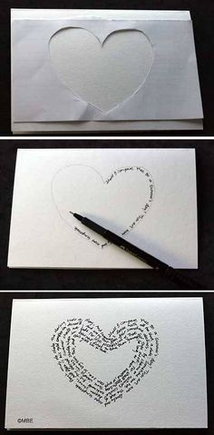 Could do a big heart on canvas.  paint a heart with a secret message  Cute idea with all the directions