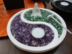 Ying Yang Crystal Garden - attractive, highly therapeutic and stress reductive