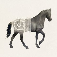 Nice horse/pattern montage. Possibly from Sam Weber (sampaints.com), but who can be sure on the Tumblrs…