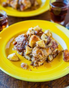 Maple-Banana Baked French Toast - Ready in 30 minutes. Nothing to babysit at the stovetop or flip - so easy! Recipe at averiecooks.com