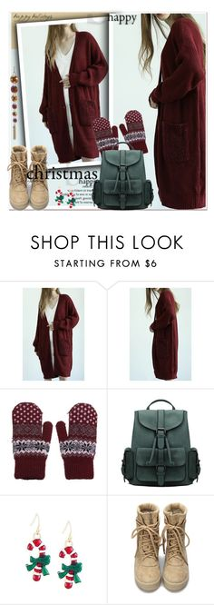 Christmas happy-Yoins by paculi on Polyvore featuring cozychic, yoins, yoinscollection and loveyoins