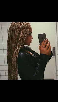 Blonde Box Braids, Black Girl Braids, Braids For Black Hair, Girls Braids, Afro Braids, Cornrows, Curly Hair Styles, Natural Hair Styles, Box Braids Styling
