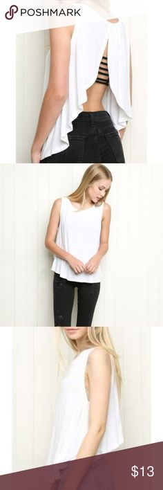 5a991adce5c Brandy Melville open back white tank Loose and flowy Brandy Melville tank.  White. Gentle