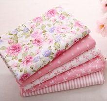 5 unids 40 cm * 50 cm rosa 100% tela de algodón de la costura trimestre grasa de acolchado tejido remiendo de la muñeca Tilda tela niños textil ropa de cama(China (Mainland))