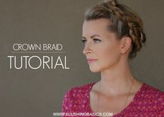 blushing basics: Crown Braid Tutorial and Head & Shoulders Review