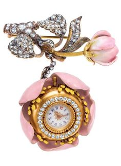 Birthday 1994 - Late 19th century ladies' watch, by chief Tiffany designer Paulding Farnham (1859-1927), inspired by a twig of a blossoming apple tree. The watch was part of Tiffany's gold-medal exhibit at the 1889 Paris World's Fair.
