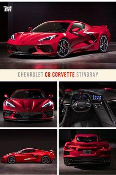 Chevrolet's new Corvette is a world-class, mid-engine supercar that can accelerate to 60 mph in u Lamborghini Cars, Ferrari, Porsche, Little Red Corvette, Chevrolet Corvette Stingray, Best Luxury Cars, Sexy Cars, Fast Cars, Sport Cars