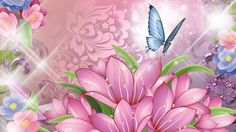 purple butterfly flowers wallpaper abstract - Google Search