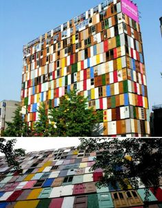 A dilapidated 10-story building in Seoul, South Korea received a colorful new look in the form of 1,000 brightly colored reclaimed doors in an installation by artist Choi Jeong-Hwa.