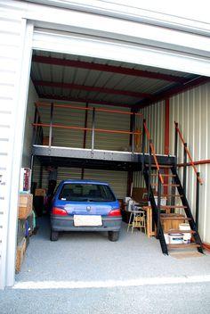 Este garaje ha duplicado su espacio con un altillo Tecrostar.