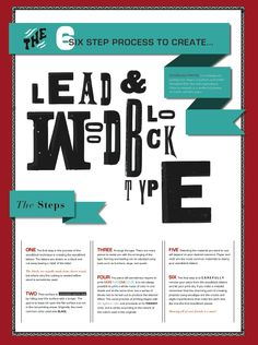 Poster about woodblock type process