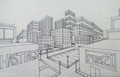 2 pt perscpective drawing  My High School Art Room