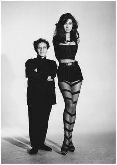 Azzedine Alaia andYasmeen Ghauri 1991