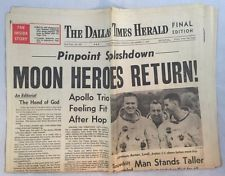 12-27-1968 Dallas Times Herald Newspaper Moon Heroes Return Astronauts Borman+