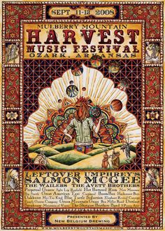 Leftover Salmon - Wailers, The - Avett Brothers, The - Umphreys Mcgee (Amp, Poster Designer)