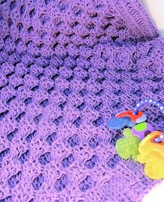 Honey Sweet Baby Blanket | CrochetKim | Tunisian Crochet Honeycomb Cable | Free Crochet Pattern