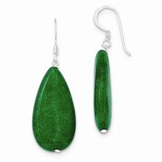 Sterling Silver Dark Green Jade Earrings - Look fashionable with these dark green jade earrings is crafted delicately from sterling silver. This versatile earrings set makes a great addition to any womans jewelry collection.Product DetailsProduct SKU :JG-2504548Item Type:Dangle EarringsWidth: Just Under 5/8 Inch (15.00mm)Weight:0.69 GRMetal Type:Sterling SilverColor:GreenGemstone Type:JadeEarrings Backing Type : Shepherds HookCountry Of Origin : ThailandAttribute 1:DangleAttribute 2:Color…