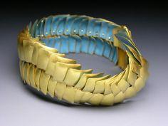 Jacqueline RYAN - Bracelet - 2011  -  18ct gold with enamel