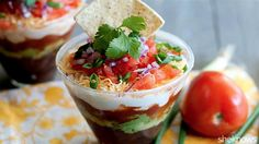 No party is complete without a classic 7-layer dip, and these personal-size cups are the perfect portions