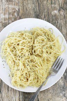 Brown Butter Garlic Parmesan Angel Hair Pasta
