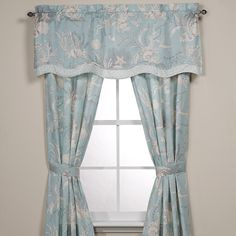 """ROYAL HERITAGE HOME Sea Cottage 84"""" Drapery Panel Pair $85 AVAILABLE FROM BHR HOME: http://beachhippiehome.mybigcommerce.com/royal-heritage-home-sea-cottage-84-drapery-panel-pair-85/ INCLUDES NORTON SHOPPER PROTECTION & BEST PRICE GUARANTEE"""
