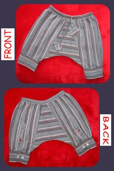 Recycled baby harem pants, I'm going to raid my husbands old business shirts!