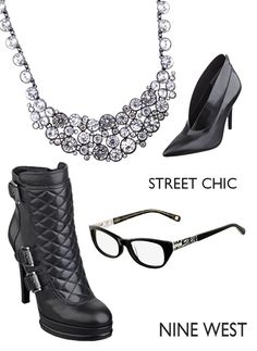 Want these @Nine West and @VSP Vision Care  glasses!!! And hello sparkly necklace and chic booties. #GETINMYCLOSET #ninewest #vsp