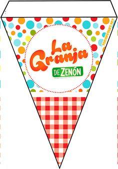 Banderines-de-la-Granja-de-ZENON-para-imprimir-decoracion-granja-de-zenon Earth Day, Mary Kay, Birthday Party Themes, Ideas Para, Projects To Try, Playing Cards, Printables, Kids, Google