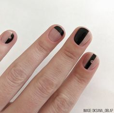 3 Weird Ways to Get Your Mani to Last - Nailstyle Valentine's Day Nail Designs, Simple Nail Designs, Art Designs, Chic Nails, Swag Nails, Nude Nails, Black Nails, Mens Nails, Minimalist Nails