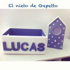 Cajita Lucas + casita pájaro #elnietodeGepetto