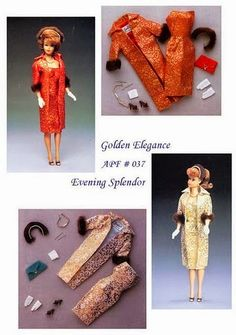 Herbie's Doll Sewing, Knitting & Crochet Pattern Collection: Vintage Style Barbie Sewing Pattern - After Five Dress & Coat by Aileen's Petite Fashions